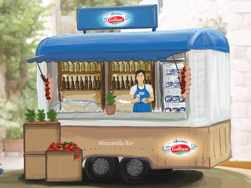 Lactalis Deutschland GmbH · Galbani Out-of-Home Kampagne